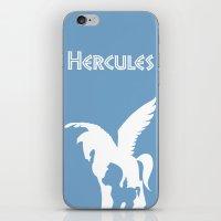 hercules iPhone & iPod Skins featuring Hercules by Citron Vert