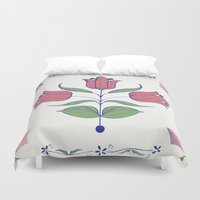 tulip Duvet Covers featuring Tulip by Rceeh