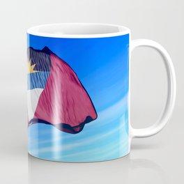 Antigua and Barbuda flag waving on the wind Coffee Mug