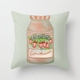 Soulfood: A Jar of Hearts I Throw Pillow
