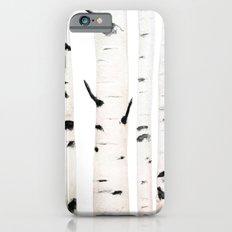 birch  watercolor iPhone 6s Slim Case