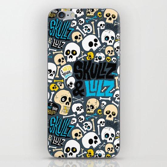 Skullz & Lulz Pattern iPhone & iPod Skin