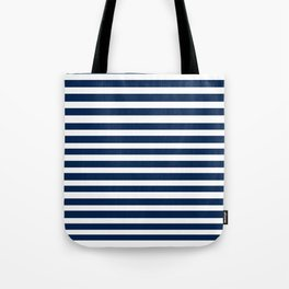 Navy-White ( Stripe Collection ) Tote Bag