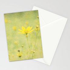 Green with buttercups Stationery Cards