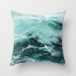 Water Photography | Sea | Ocean | Pattern | Abstract | Digital | Turquoise Throw Pillow