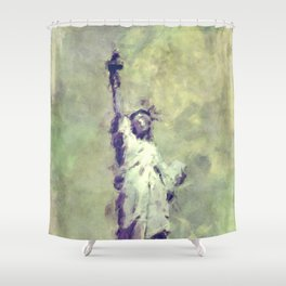 Textured Statue of Liberty Shower Curtain