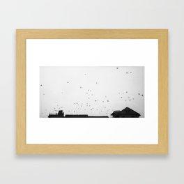 Flying Dreamily Through the Sky Framed Art Print