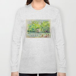 Krause Springs - historic Texas natural springs swimming hole Long Sleeve T-shirt