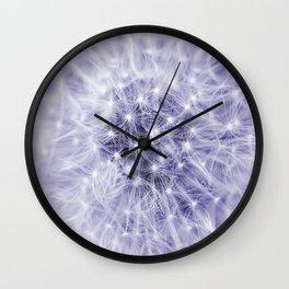 Blue Dandelion Wall Clock