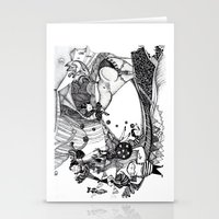 circus Stationery Cards featuring Circus by Ivanka Costru