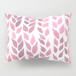 Simple Watercolor Leaves - Light Pink Pillow Sham