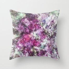The quiet purple clouds Throw Pillow