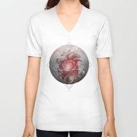 valentine V-neck T-shirts featuring Valentine by Nicolas Jamonneau