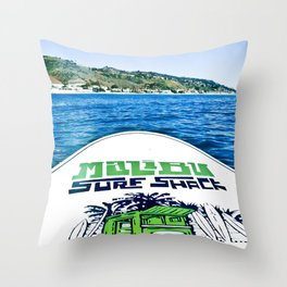 Paddle Boarding Throw Pillow