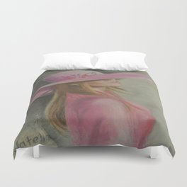 Lady in the hat Duvet Cover