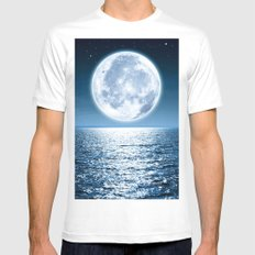 Moon Dive Mens Fitted Tee White MEDIUM
