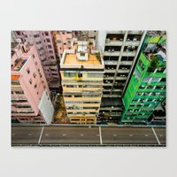 hong kong Canvas Prints featuring Hong Kong by Gal Raz