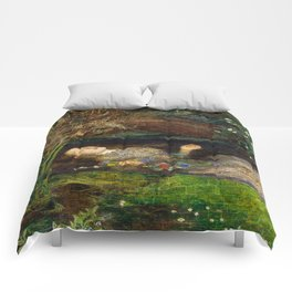 Ophelia Brick Wall Painting by Sir John Everett Millais Comforters