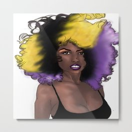 Purple Girl Metal Print