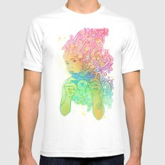 Doodle shot White Mens Fitted Tee MEDIUM