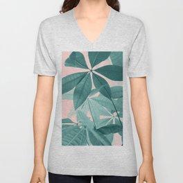 Pachira Aquatica #5 #foliage #decor #art #society6 Unisex V-Neck