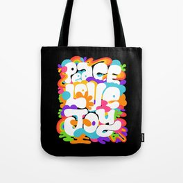 peace love joy Tote Bag