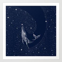 starry whale Art Print