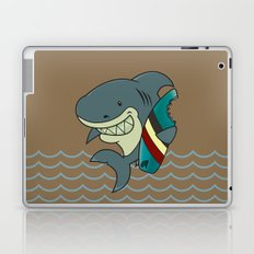 The great white surfer Laptop & iPad Skin