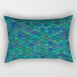Mermaid Fish Scales Rectangular Pillow