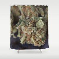 medical Shower Curtains featuring Medical Marijuana Deep Sleep by BudProducts.us