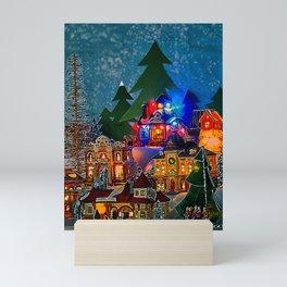 Christmas Village Mini Art Print