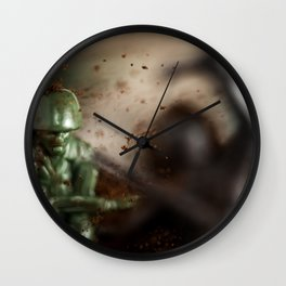 Toy soldiers war Wall Clock