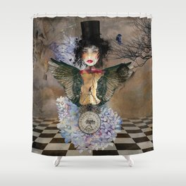 Lady in a Black Hat Shower Curtain