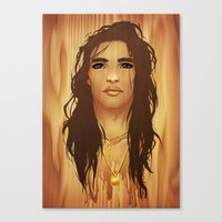 native american Canvas Prints featuring Native American by Kimball Gray
