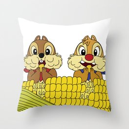 Chip and Dale Throw Pillow