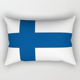 Flag of Finland 1 -finnish, Suomi, Sami,Finn,Helsinki,Tampere Rectangular Pillow