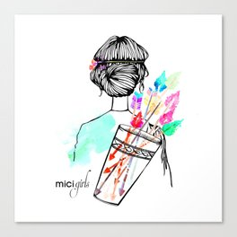MICI Girls March issue 2016 Canvas Print