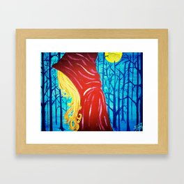 Dire Wolf - Red Riding Hood Painting Framed Art Print