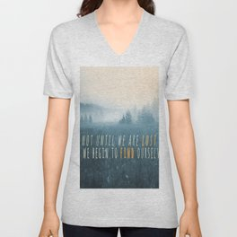 Misty Woods Unisex V-Neck