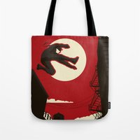 kitchen Tote Bags featuring Hell's Kitchen by Danny Haas