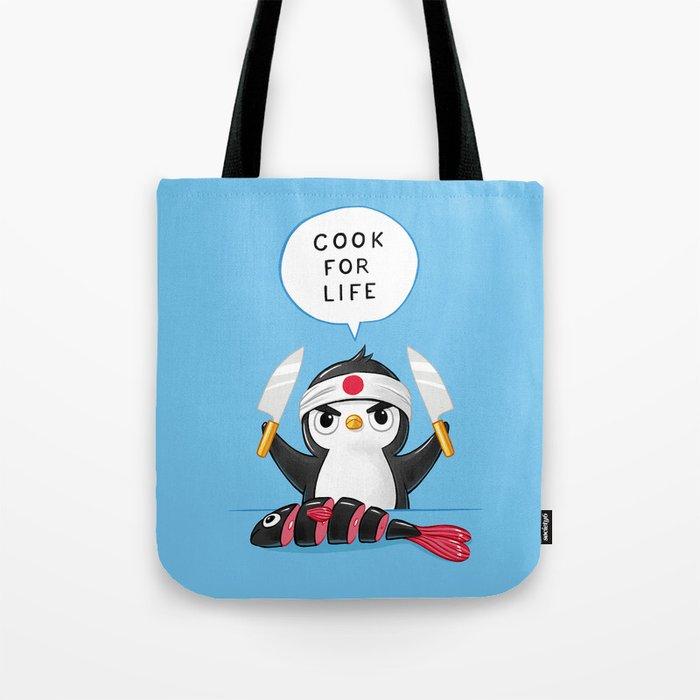 Penguin Chef Tote Bag