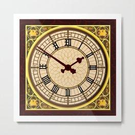 Big Ben at Clock Face Metal Print