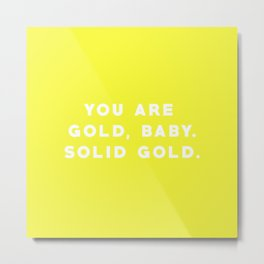 SOLID GOLD Metal Print