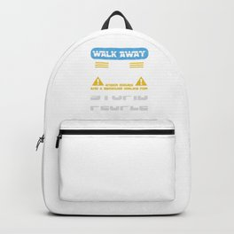 Walk Away This Able Seaman Has Anger Issues Merchant Ship Watchstander Sea Ocean Marine Gift Backpack