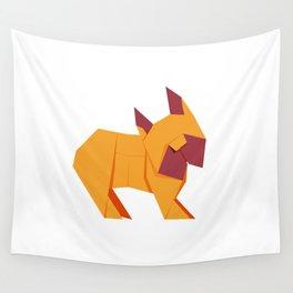 Origami French Bulldog Wall Tapestry