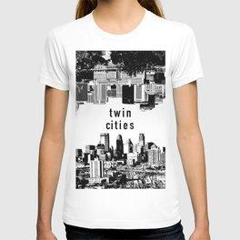 Twin Cities Minneapolis and Saint Paul Minnesota T-shirt