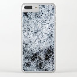 Ice Frost Crystals Clear iPhone Case