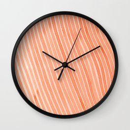 Coral Dream Stripes Wall Clock