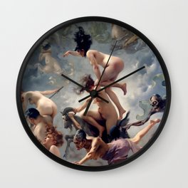 "Luis Ricardo Falero ""Witches going to their Sabbath or The departure of the witches"" Wall Clock"
