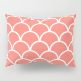 Large scallop pattern in peach echo with glow Pillow Sham